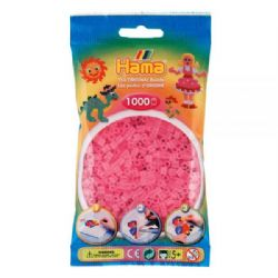 HAMA BEADS -  BEADS - TRANSLUCENT PINK (1000 PIECES)