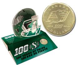 BU Canada Saskatchewan Roughriders 1910-2010 1 dollar loonie coin from mint roll
