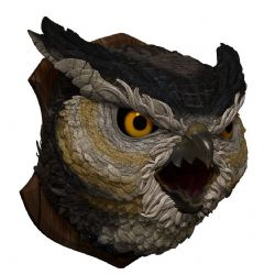 DUNGEONS & DRAGONS 5 -  OWLBEAR TROPHY PLAQUE