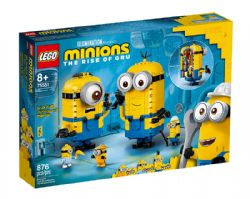 MINIONS -  BRICK-BUILT MINIONS AND THEIR LAIR (876 PIECES) -  THE RISE OF GRU 75551