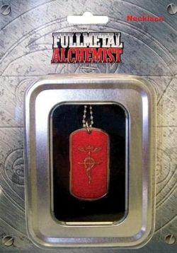 FULLMETAL ALCHEMIST -  NECKLACE -RED LOGO DOG TAG-