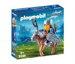 PLAYMOBIL -  COMBATTANT NAIN ET PONEY 9345