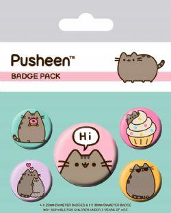 PUSHEEN -  SET OF 5 PINS
