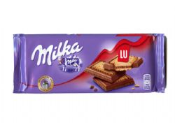 MILKA -  CHOCOLATE AND LU BUTTER BISCUITS BAR