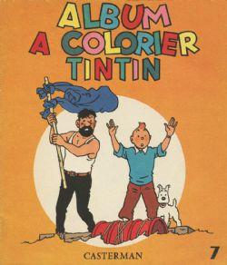 TINTIN -  VIEIL ALBUM À COLORIER