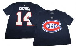 MONTREAL CANADIENS -  T-SHIRT - BLUE 14 -  NICK SUZUKI