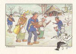 TINTIN -  CARTE DE VOEUX PAR W. VANDERSTEEN 1987