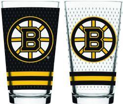 BOSTON BRUINS -  16 OZ JERSEY GLASS