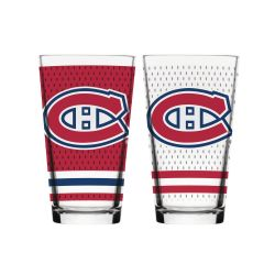 MONTREAL CANADIENS -  16 OZ JERSEY GLASS