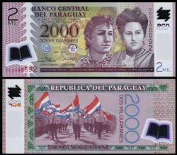 PARAGUAY -  2000 GUARANIES 2017 (UNC)