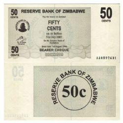 ZIMBABWE -  50 CENTS 2006 (UNC)