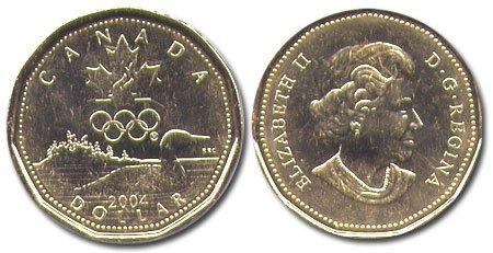 CANADA 2004 LOONIE BRILLIANT UNCIRCULATED DOLLAR COIN