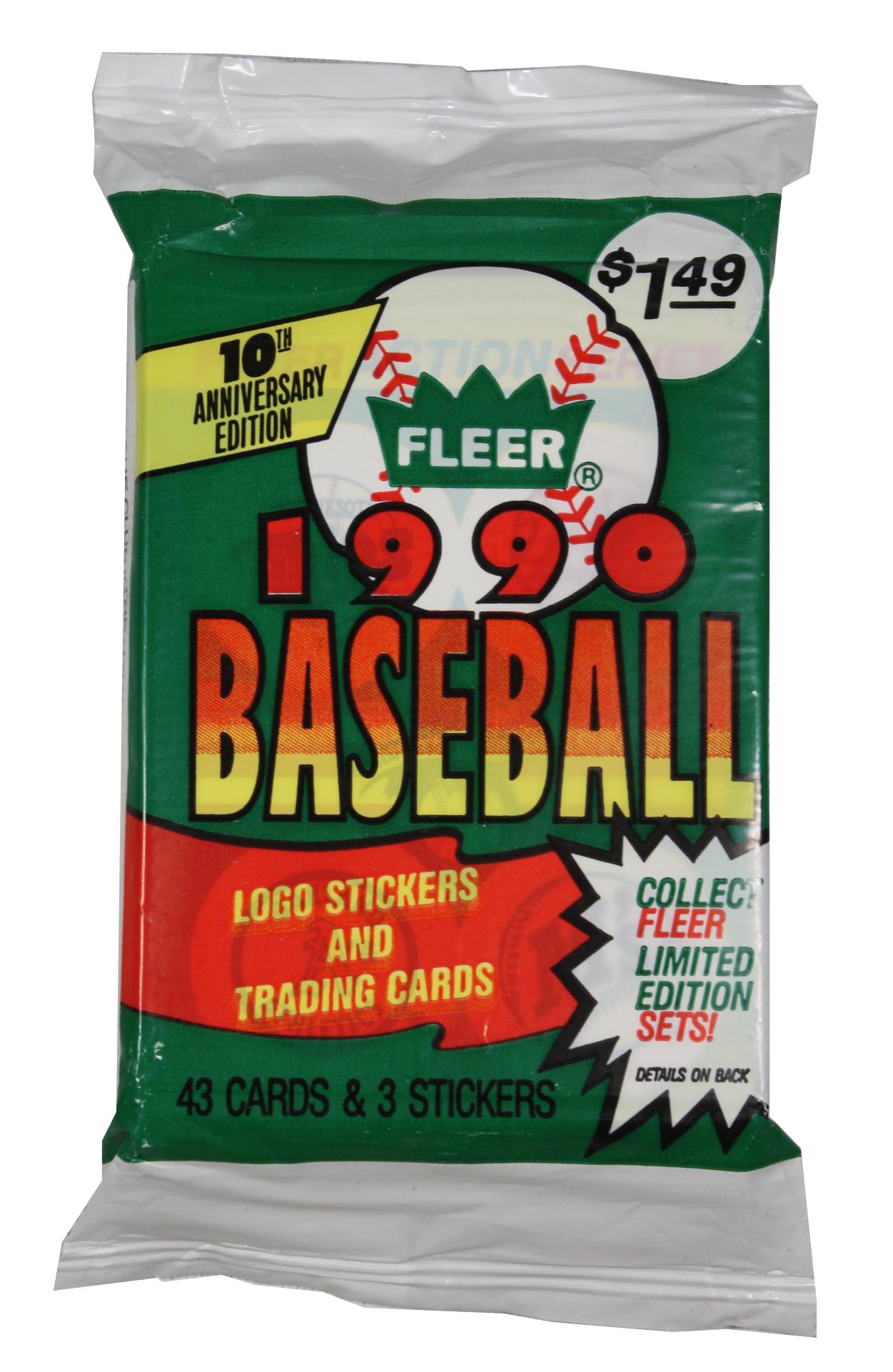 1990 BASEBALL -  FLEER BASEBALL JUMBO PACK (P43 + 3)