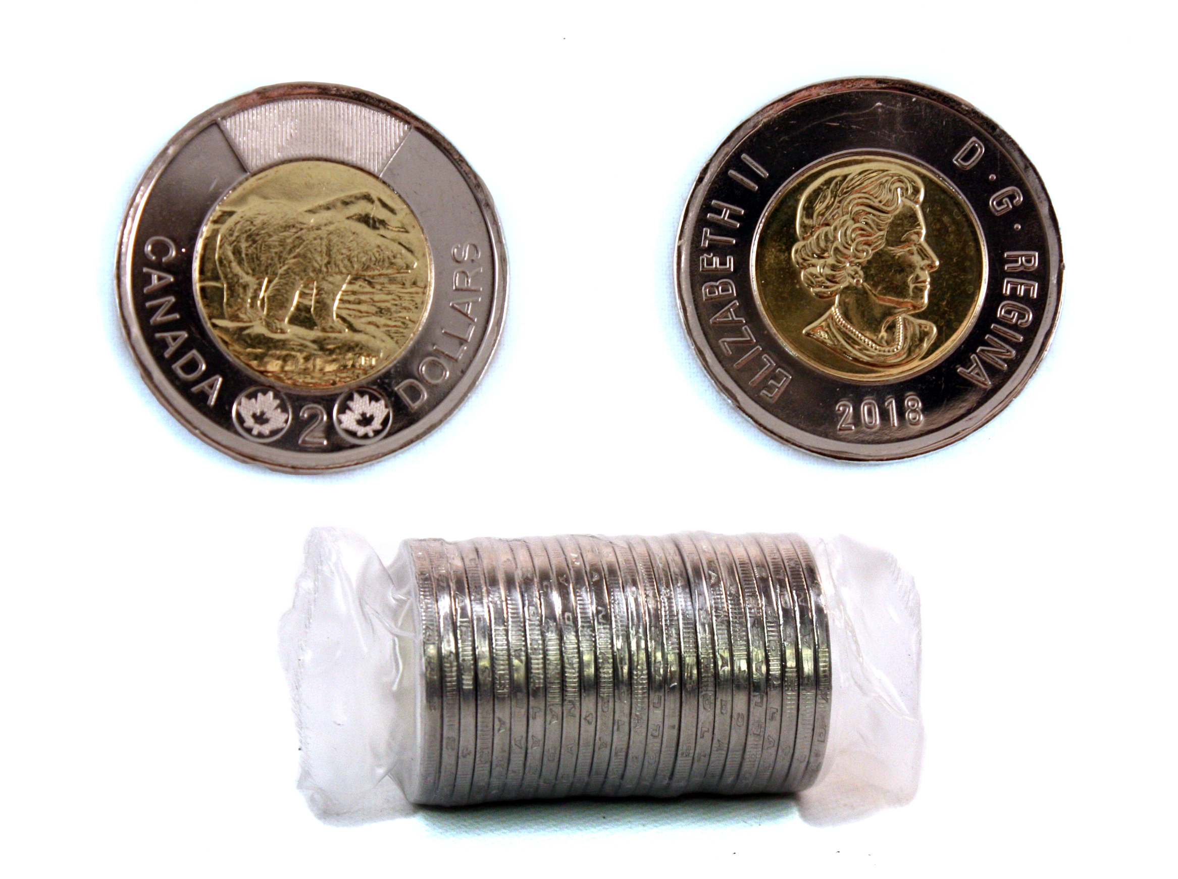 2-DOLLAR -  2018 2-DOLLAR ORIGINAL ROLL -  2018 CANADIAN COINS