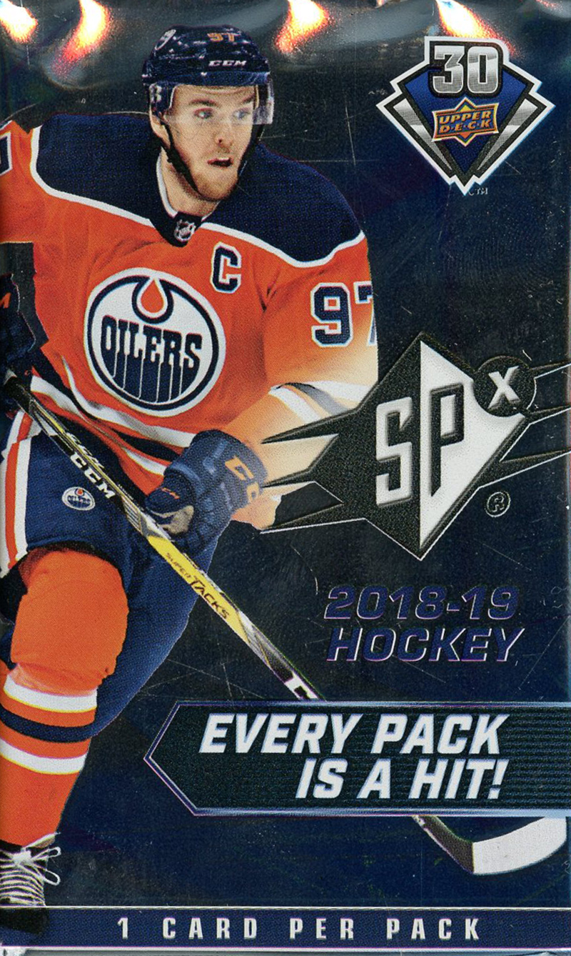 2018-19 HOCKEY -  UPPER DECK SPX (P1/B4)