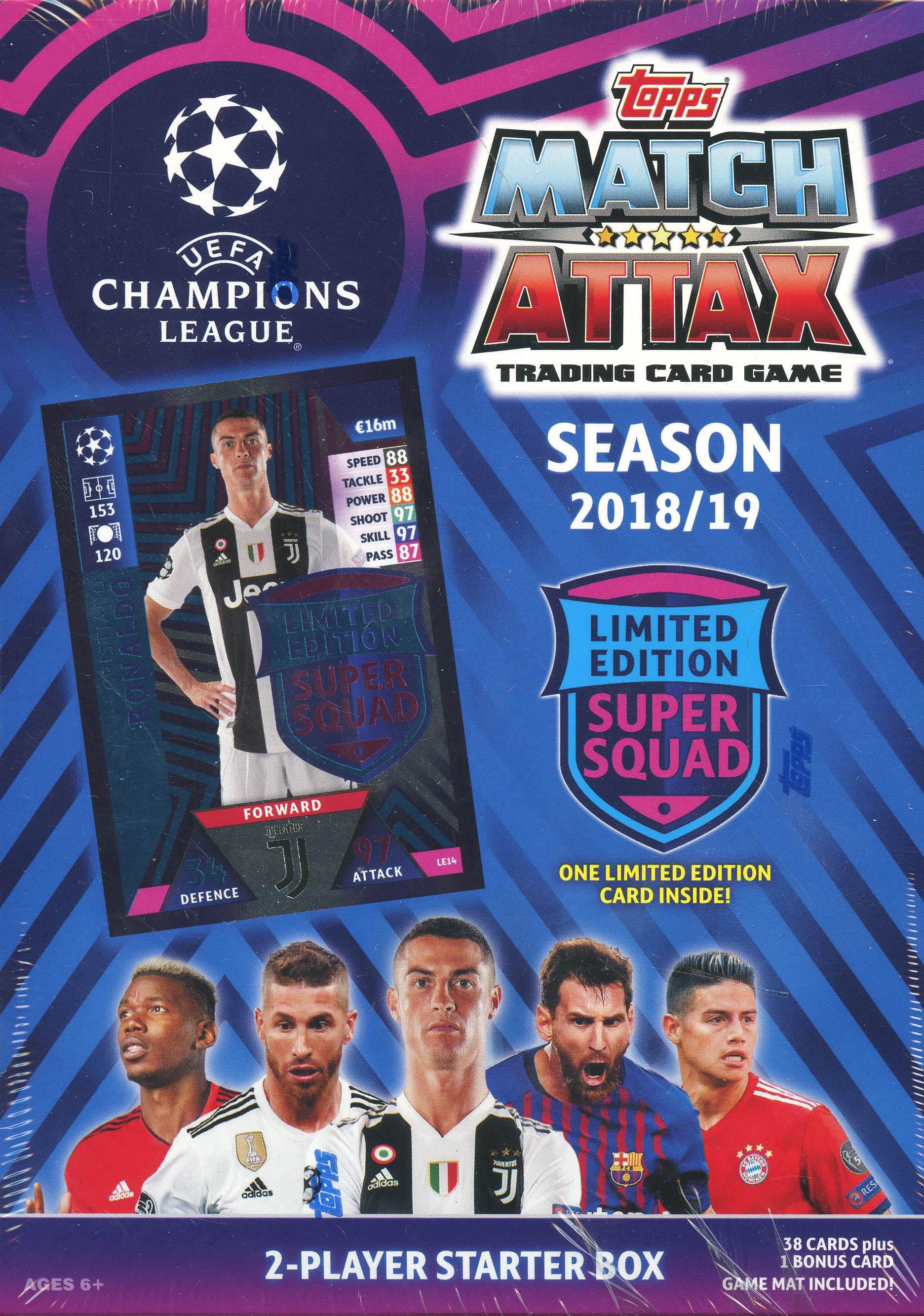 2018-19 SOCCER -  TOPPS MATCH ATTAX UEFA 2-PLAYER STARTER BOX (B38+1)