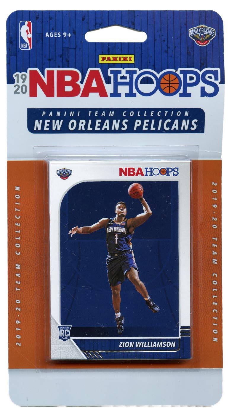 2019-20 BASKETBALL -  PANINI NBA HOOPS NEW ORLEANS PELICANS TEAM SET (11 CARDS)