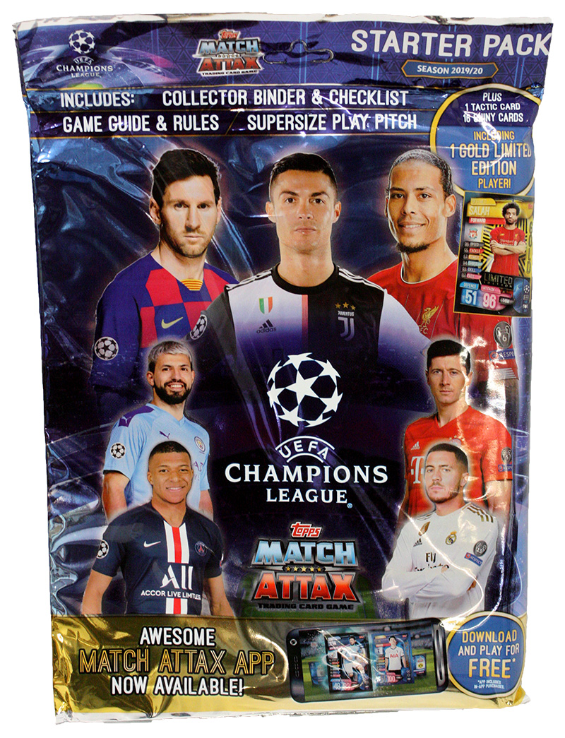 2019-20 SOCCER -  TOPPS MATCH ATTAX STARTER PACK (ALBUM/ 17 CARDS + 1 LIMITED CARD)