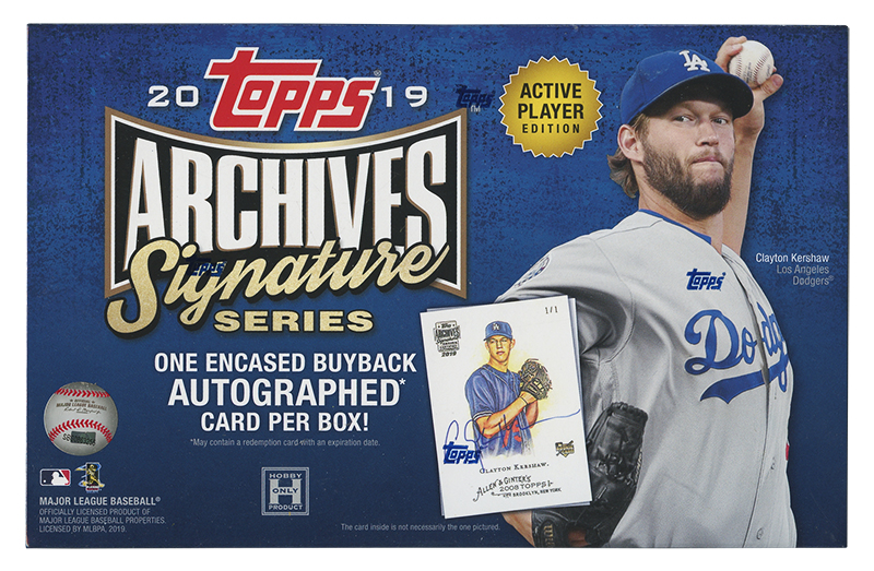 2019 BASEBALL -  TOPPS ARCHIVES SIGNATURE (P1) - ACTIVE PLAYER