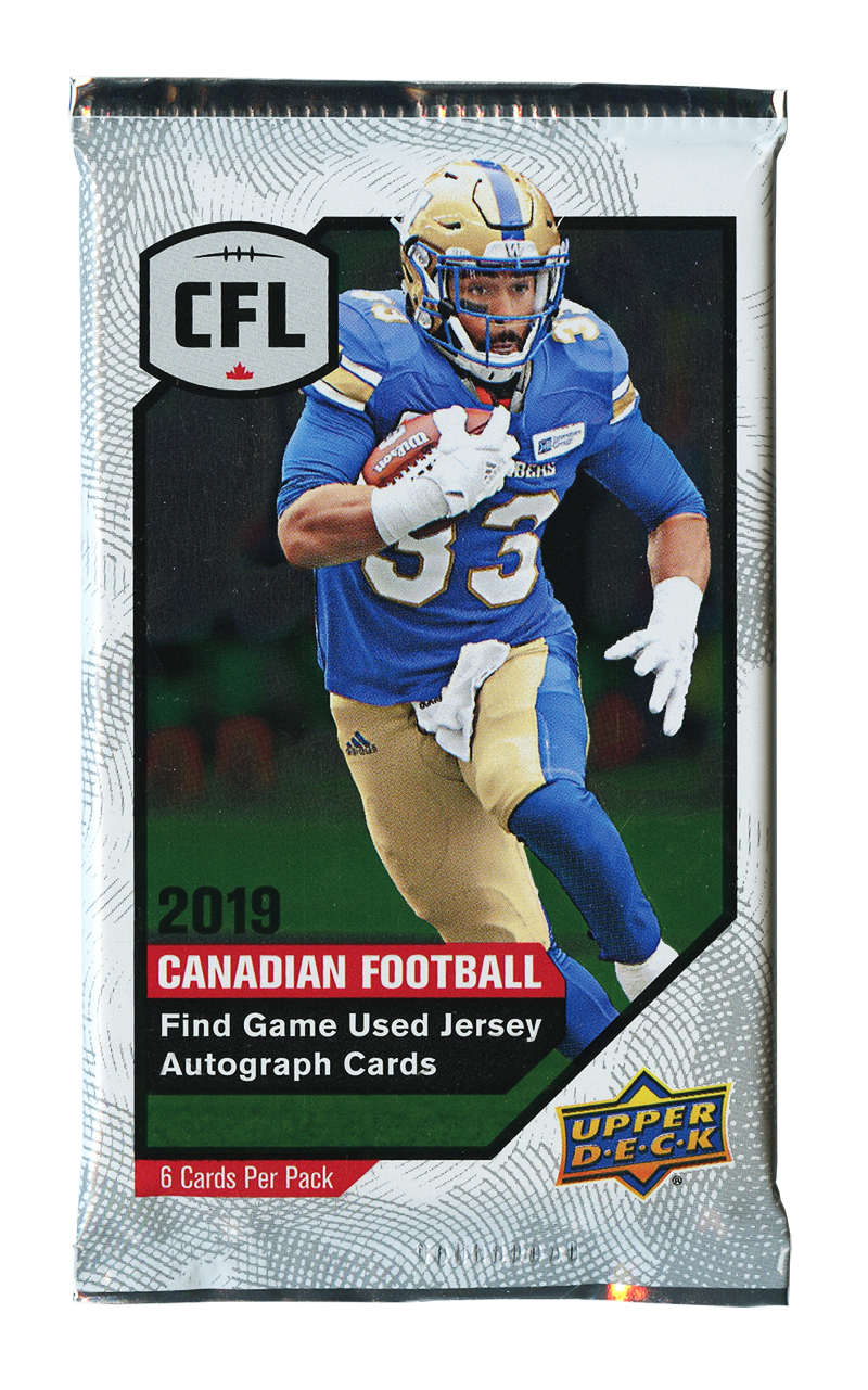 2019 FOOTBALL -  UPPER DECK CFL (P6/B16)