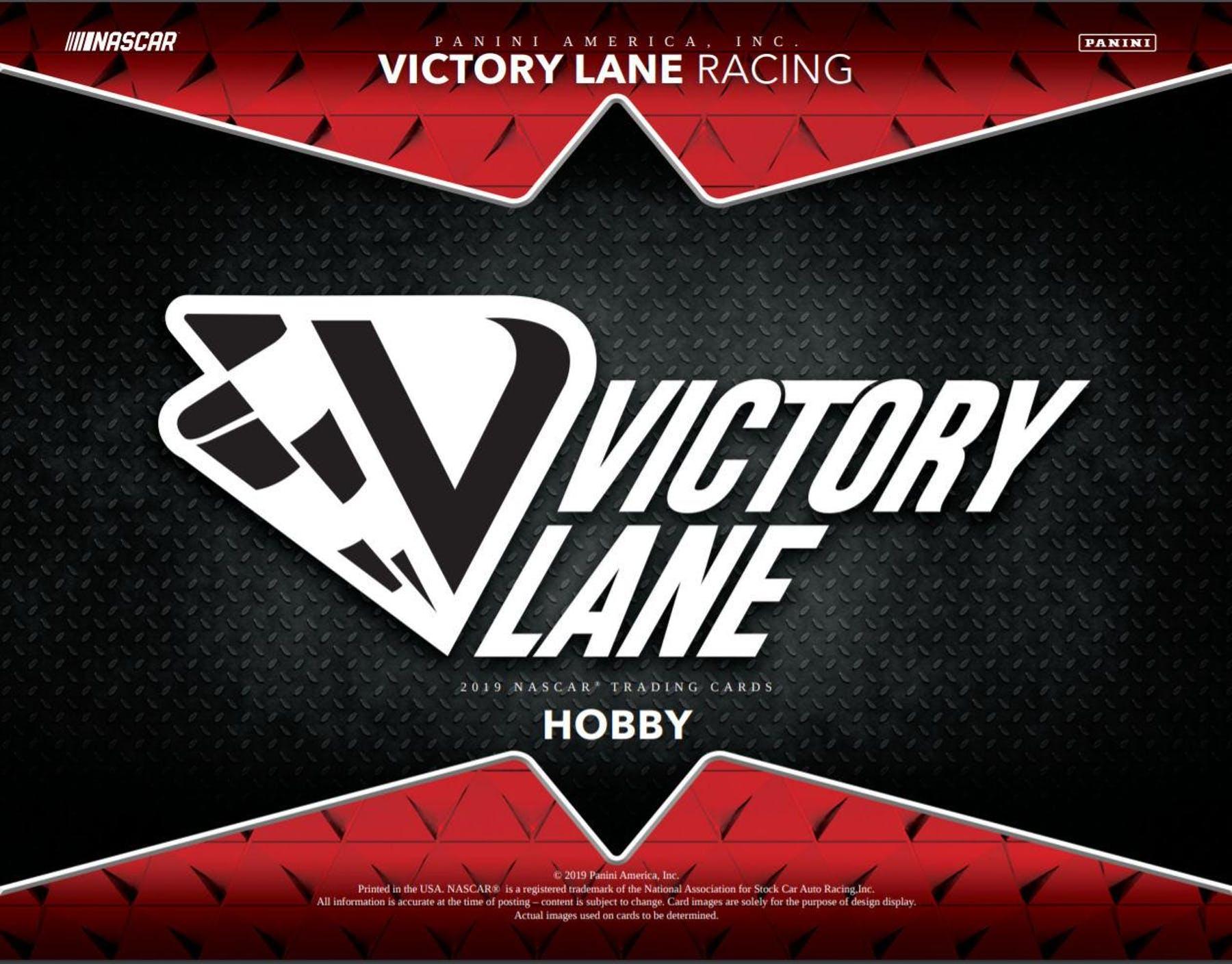 2019 NASCAR -  PANINI VICTORY LANE RACING - HOBBY BOX