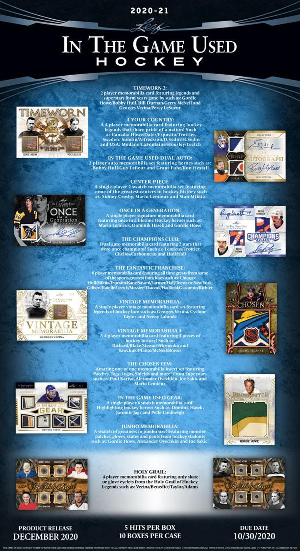 2020-21 HOCKEY -  LEAF IN THE GAME USED HOCKEY HOBBY BOX (6/1/20)