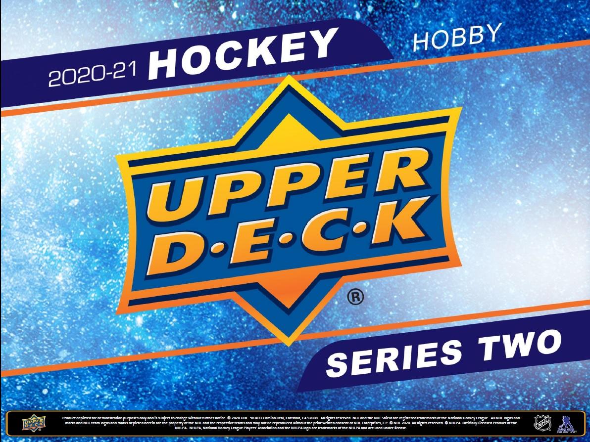 2020-21 HOCKEY -  UPPER DECK SERIES 2 HOBBY (P8/B24/C12) **LIMIT 288 PACKS / 12 BOXES PER CUSTOMER / PER ADDRESS**