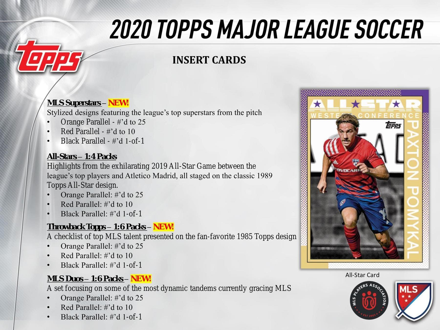 2020 SOCCER -  TOPPS MAJOR LEAGUE - HOBBY BOX (P8/B24)