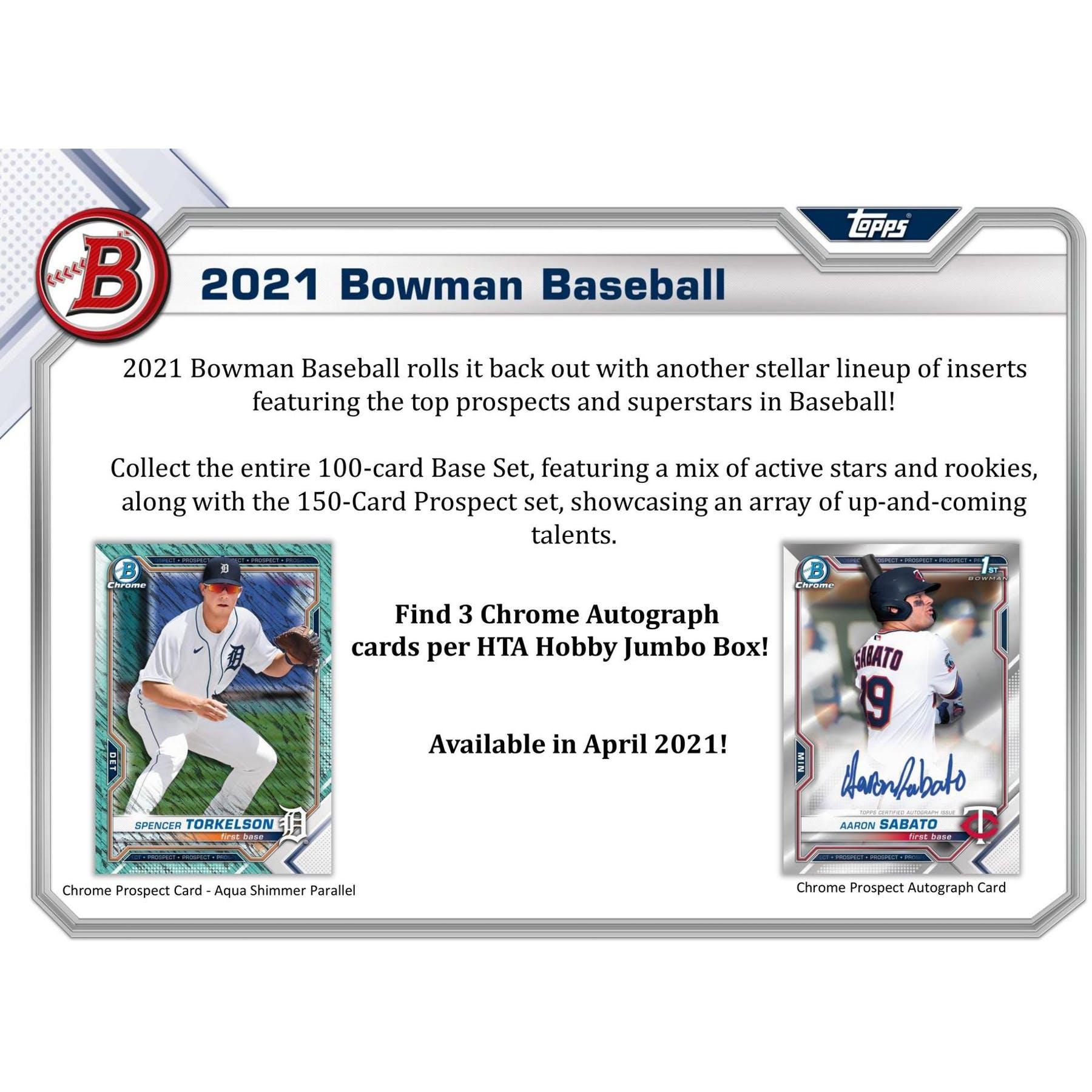 2021 BASEBALL -  BOWMAN JUMBO (P32/B12/C8)