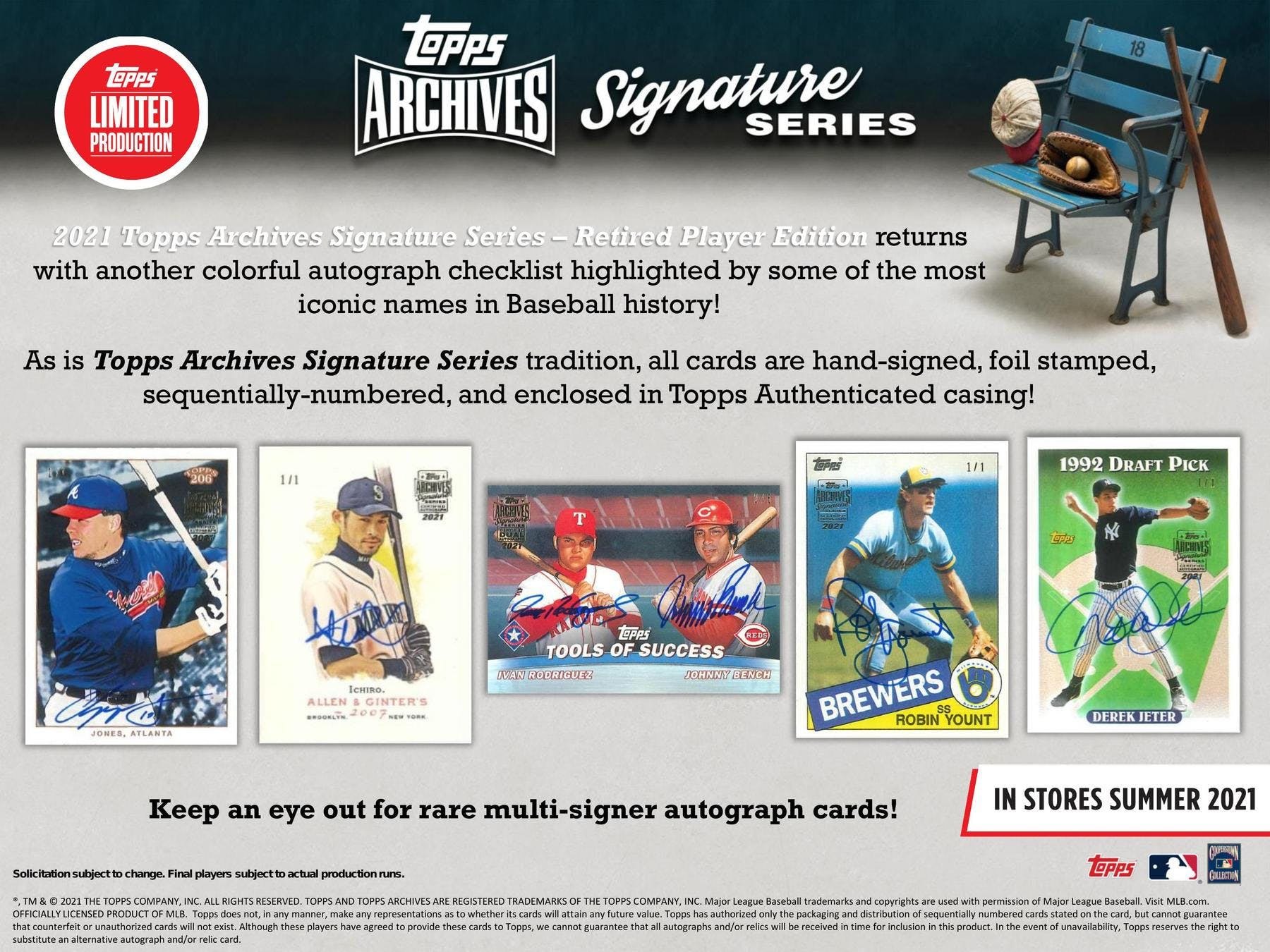 2021 BASEBALL -  TOPPS ARCHIVES SIGNATURE SERIES RETIRED PLAYER EDITION - HOBBY BOX