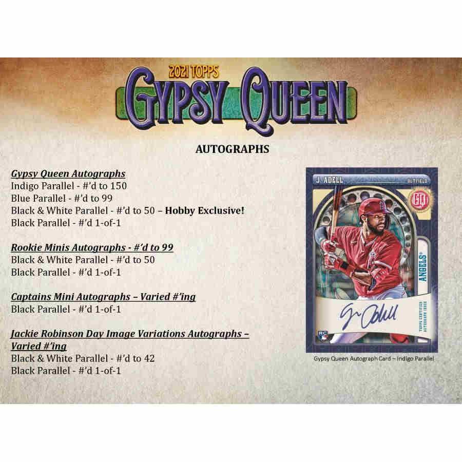 2021 BASEBALL -  TOPPS GYPSY QUEEN (P8/B24)