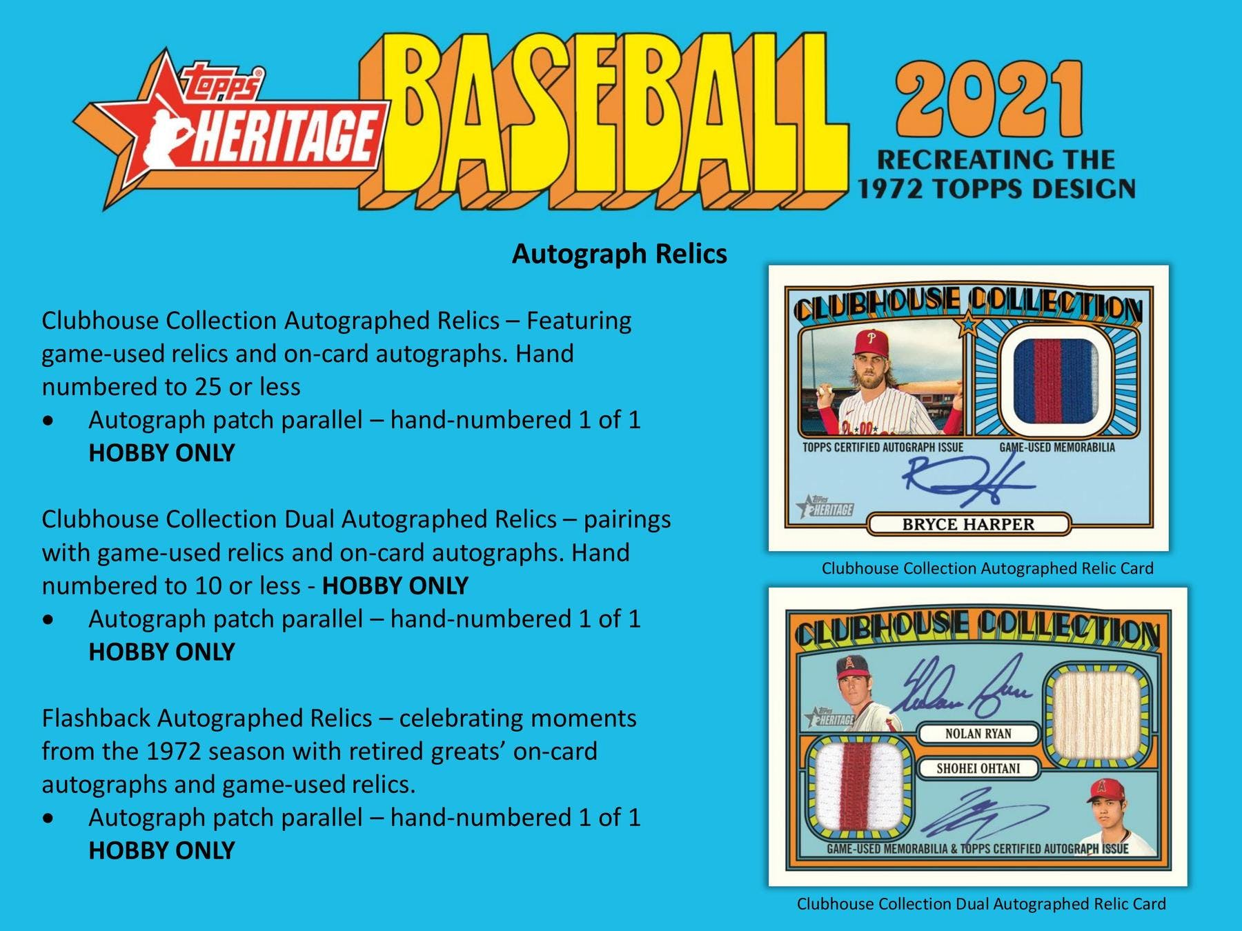 2021 BASEBALL -  TOPPS HERITAGE - HOBBY BOX