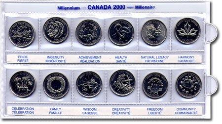 Canada 2000 Millennium Health 25 Cent In RCM Card.