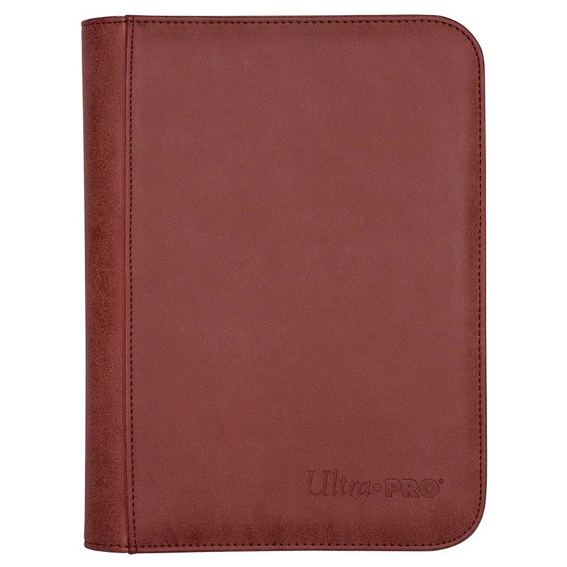 4-POCKET PORTFOLIO -  PRO-BINDER - 160 - SUEDE RUBY - WITH ZIPPER