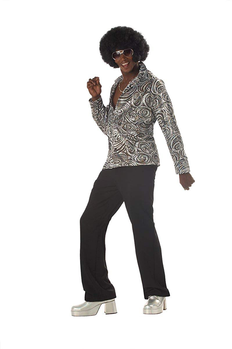70'S -  GROOVY DISCO SHIRT COSTUME (ADULT)