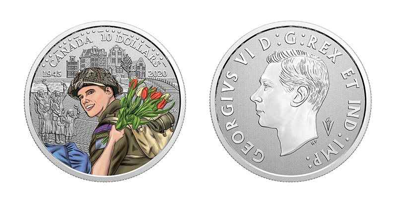 75TH ANNIVERSARY OF THE LIBERATION OF THE NETHERLANDS: CANADIAN ARMY -  2020 CANADIAN COINS