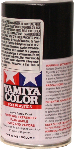 ACRYLIC PAINT -  SURFACE PRIMER - MATTE BLACK (100 ML) -  SPRAY PAINT TS-6