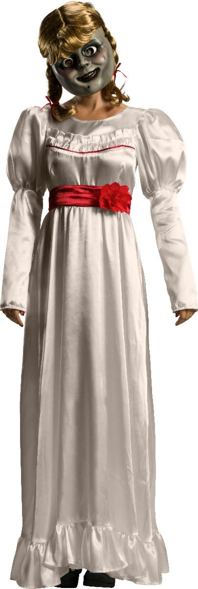 Ladies DELUXE ANNABELLE The Conjuring Halloween Doll Fancy Dress Costume Adult