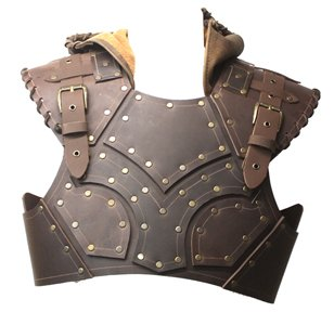 ARMORS -  SCOUNDREL'S LEATHER ARMOR WITH HOOD (TORSO ONLY) - BROWN
