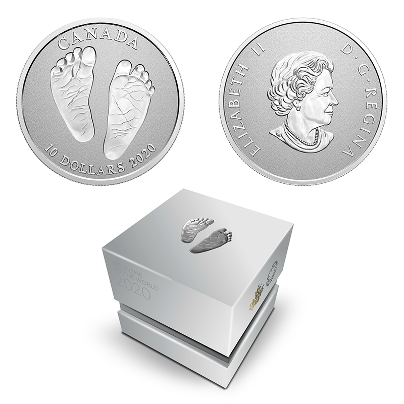 BABY -  WELCOME TO THE WORLD -  2020 CANADIAN COINS 10