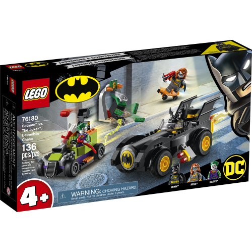 BATMAN -  BATMAN VS THE JOKER : BATMOBILE CHASE (136 PIECES) -  DC SUPER HEROES 76180