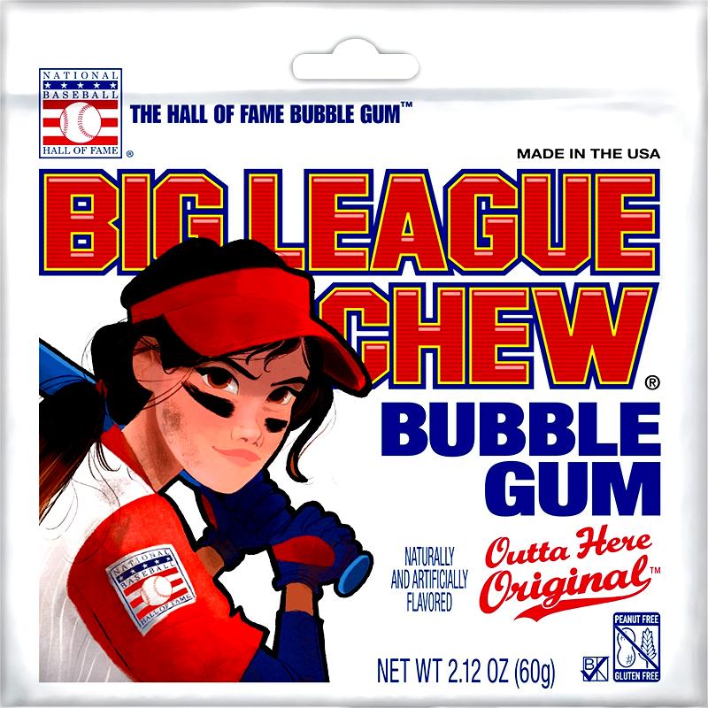 BIG LEAGUE CHEW -  BUBBLE GUM ORIGINAL - GIRL POUCH