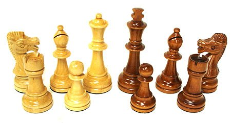 CHESS -  WEIGHTED WOOD CHESS PIECES (KING 5