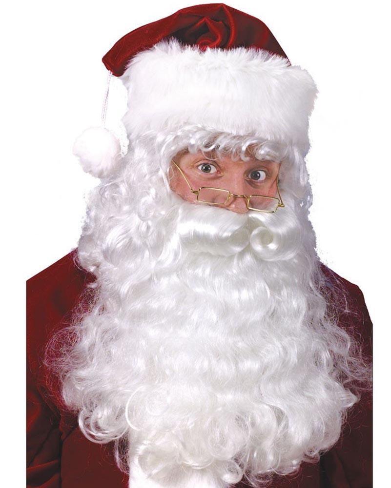 CHRISTMAS -  SANTA BEARD, WIG AND EYEBROWS (ADULT) -  SANTA CLAUS