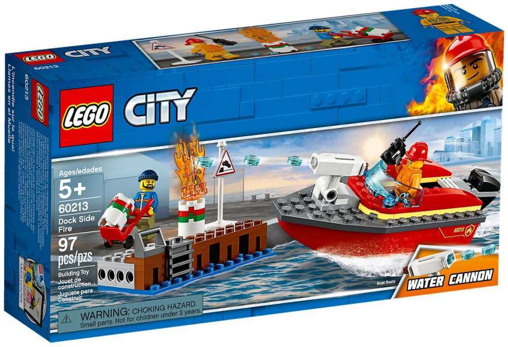 CITY -  DOCK SIDE FIRE (97 PIECES) 60213