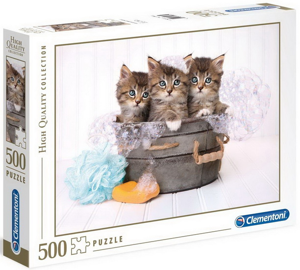 CLEMENTONI -  KITTENS AND SOAP (500 PIECES)