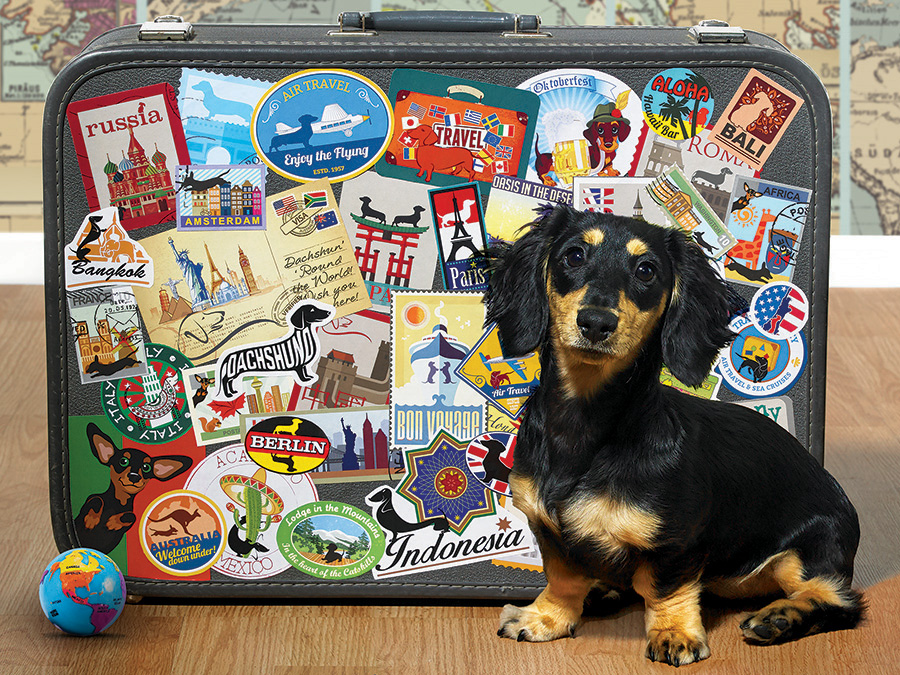 COBBLE HILL -  DACHSHUND 'ROUND THE WORLD (500 PIECES)