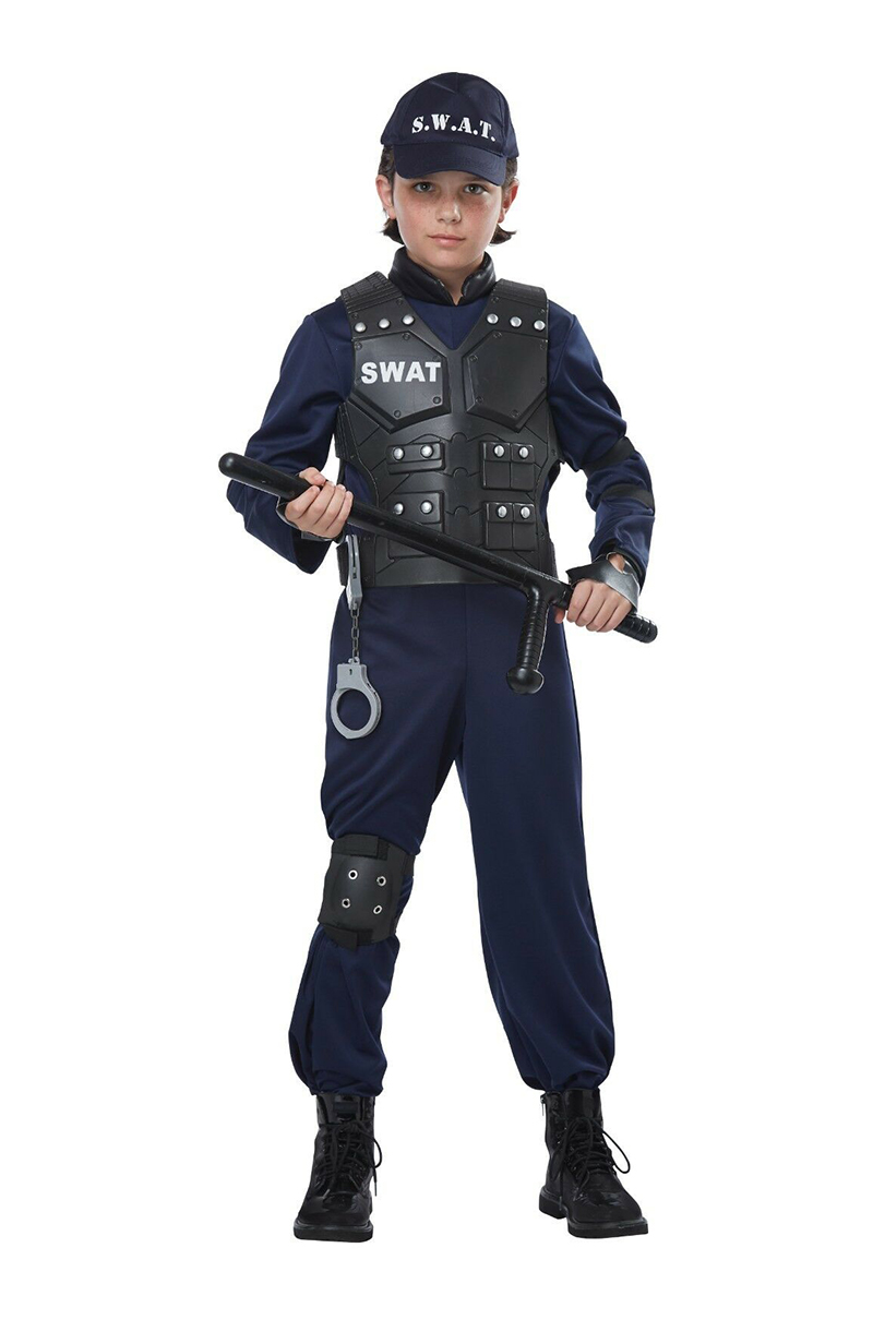 COPS AND ROBBERS -  JUNIOR SWAT COSTUME (CHILD)