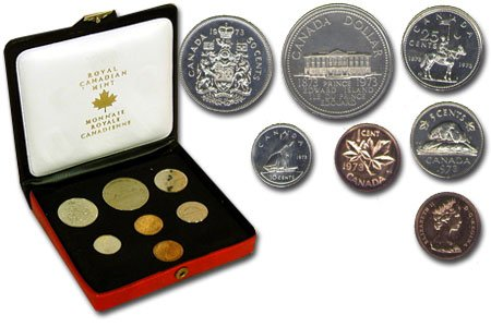 CUSTOM SETS -  1973 CUSTOM SET - SMALL BUST -  1973 CANADIAN COINS 03