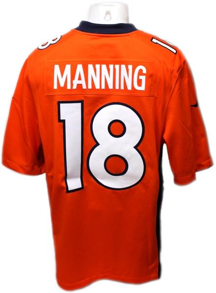 best loved 79020 c559c DENVER BRONCOS - PEYTON MANNING #18 TEAM JERSEY ORANGE / NFL FOOTBALL /  PREMIER JERSEY
